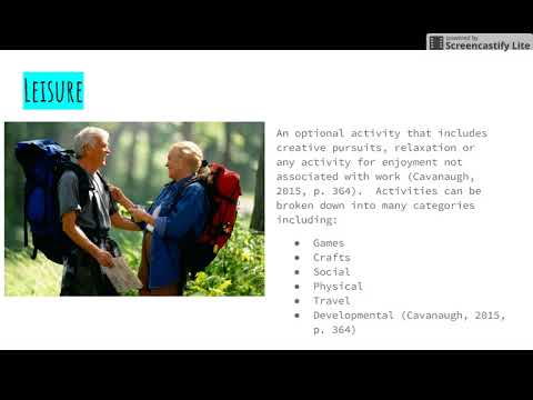 Psychology Of Aging Importance of Leisure