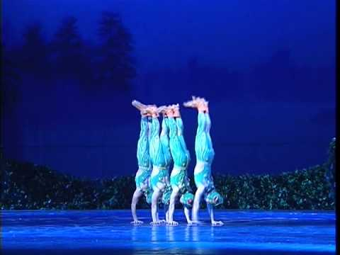 Chinese Swan Lake: 'The four little swans turned into four small frogs'