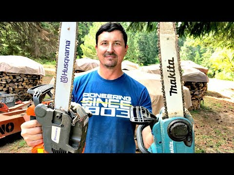 Gas Chainsaw V.S. Electric - SHOCKING OUTCOME ! ! !