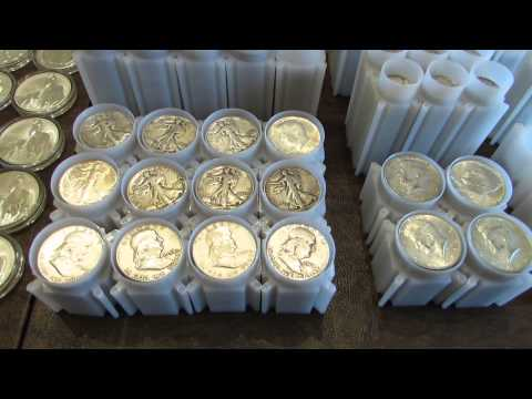 Full Silver Stack 635+ oz. Junk Silver, American Silver Eagle, Bars, World Coins