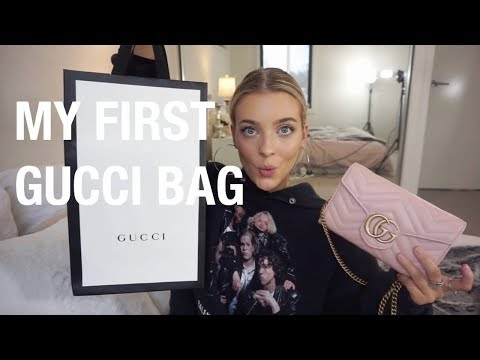 GUCCI MARMONT MATELASSE BAG UNBOXING + WHATS IN MY BAG! thumbnail
