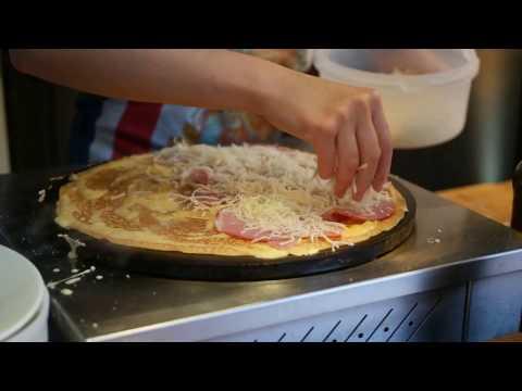 Savory Crepe In Paris | Egg Ham Cheese Crepe - Paris Street Food