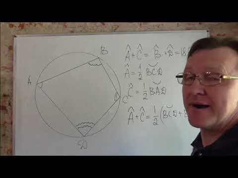 Как найти площадь четырехугольника вписанного в окружность