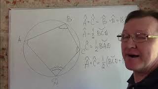 Вписанный в окружность четырёхугольник.