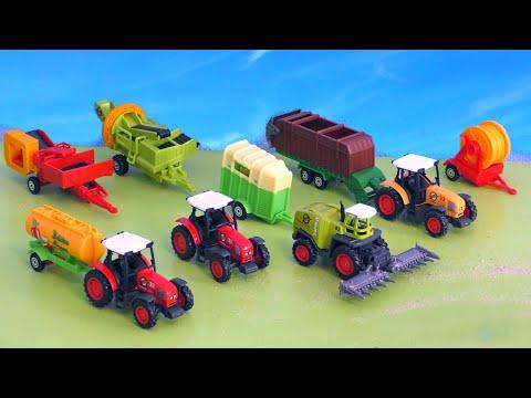 Trecker, Mähdrescher & Traktor - Tag auf dem Bauernhof - Tractor & Farm Vehicles / Farm life