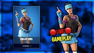 "THE NEW ""VOLLEY GIRL"" SKIN GAMEPLAY IN FORTNITE (New Volley Girl Skin Gameplay Live)"