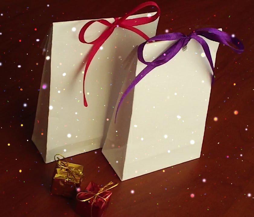 Как сделать пакет из бумаги своими руками. Рaper bag - YouTube