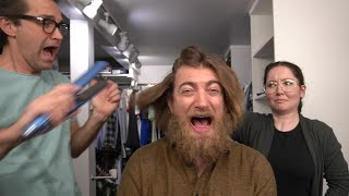 Link Straightens Rhett's Hair