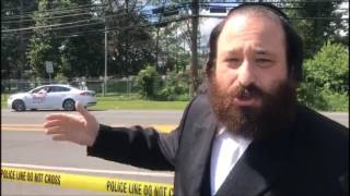 Rockland County Legislator Aron Wieder At Scene Of Monsey Accident