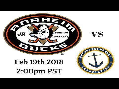 Jr Ducks vs Alaska Exhibition Game Las Vegas 2 19 18