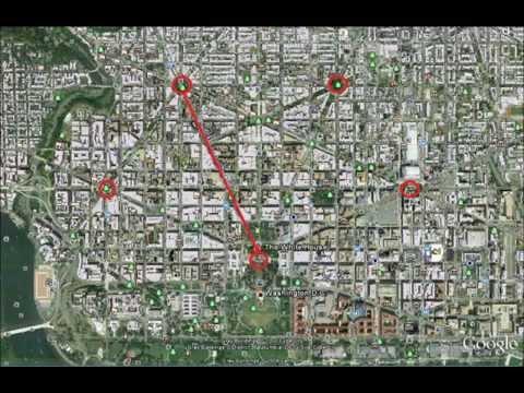White house & pentagram - satanic illuminati symbolism