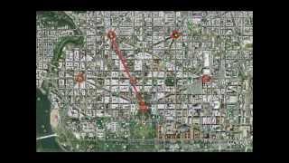 White house & pentagram - satanic illuminati symbolism Free HD Video