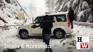 Season's first snowfall in Shimla City.