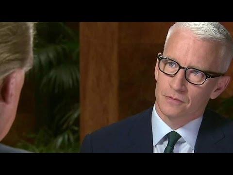 Donald Trump clarifies immigration comments (CNN interviews Anderson Cooper)
