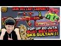 TOP UP SENILAI 20 JUTA BELI SKIN SKS SULTAN , 3X SPIN LANGSUNG DAPAT HOKI BANGET - PUBG MOBILE