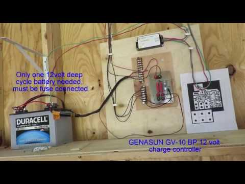Off Grid Solar Powered Garage