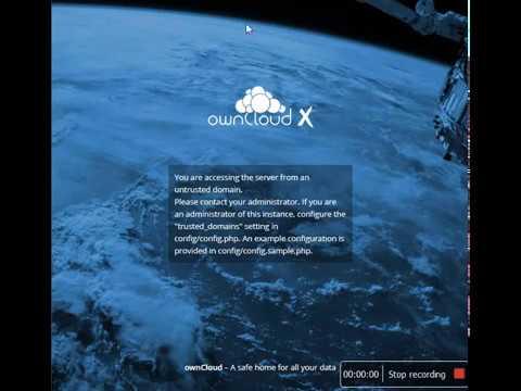 Owncloud error untrusted domain