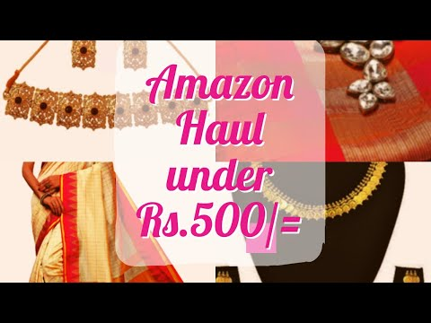 amazon-saree-and-jewellery-haul-under-500-|-affordable-haul-|-3-sarees-and-2-jewellery-sets