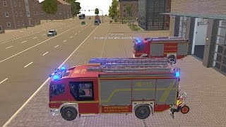Emergency Call 112 – Fire Engine and Ladder Truck Responding! 4K