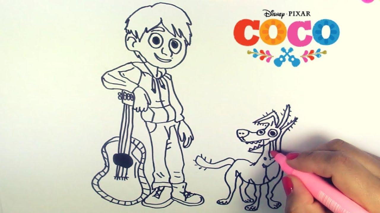 Dibuja Y Colorea Miguel Coco Disney De Arco Iris Dibujos Para