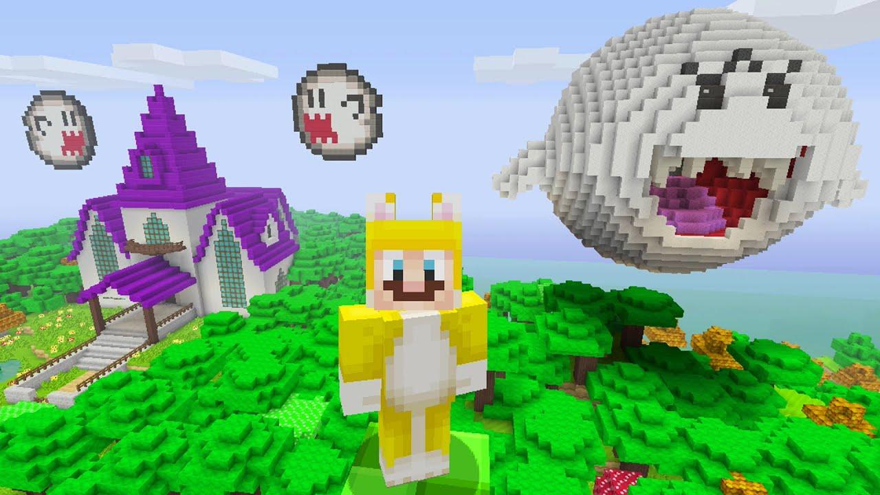 Minecraft Super Mario Edition Ghost House YouTube - Minecraft mario spiele