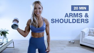 20 MIN SOLID ARMS & SHOULDER WORKOUT with Dumbbells