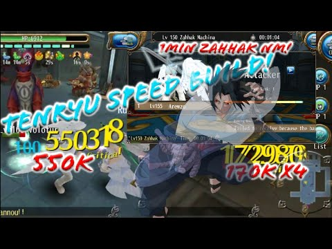 Tenryu Super Speed Build Katana lv155 100% Critical Tenryu Only Burst Damage Build! - Toram Online