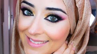 Barbie Makeup Pink & Gold Smokey Eye Tutorial Thumbnail