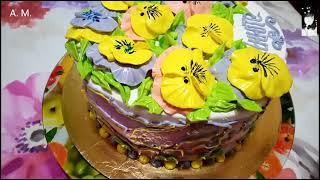 Торт Анечка на мой день рождения с персиковым кремом