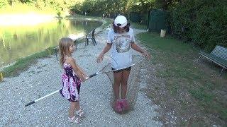 Николь и папа на рыбалке !