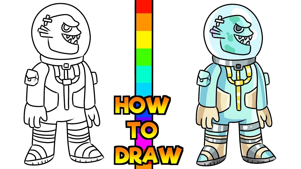 How to Draw Leviathan Skin | Fortnite (Step by Step) - YouTube
