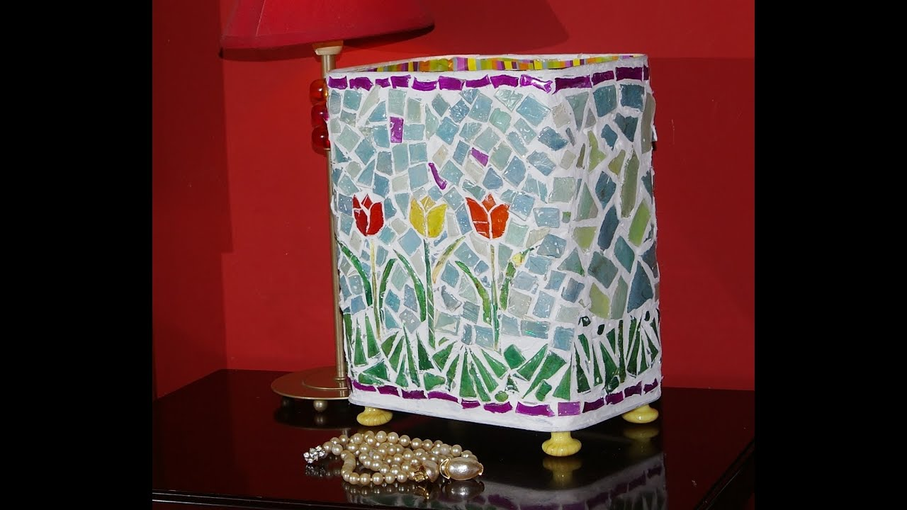 Lata vieja reciclada con cds viejos can old recycled with old cds youtube - Manualidades con muebles viejos ...