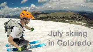 Summer skiing in Colorado's Indian Peaks - Saint Vrain Mountain - July 15, 2017 [4k]
