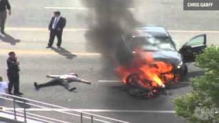 Bystanders Rescue Motorcyclist by Lifting Burning Car Video Stunning Amazing Video