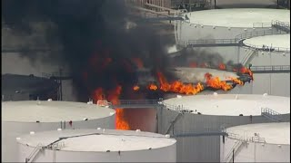 Fire at Houston-area petrochemicals terminal thumbnail