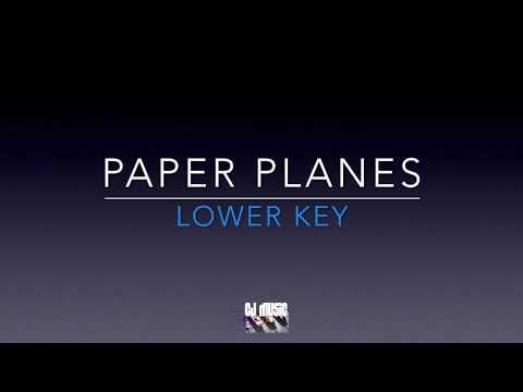 Paper Planes - LOWER piano karaoke / backing track - Hoseah Partsch