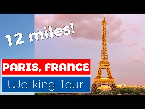 Paris, France Virtual Treadmill Walk (Natural Sound)