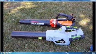 Ego 56 volt vs Worx 56v leaf blower Showdown