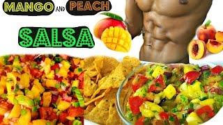 How To Make Salsa - Mango Peach Salsa Recipe - Sexy Funny Kitchen #17