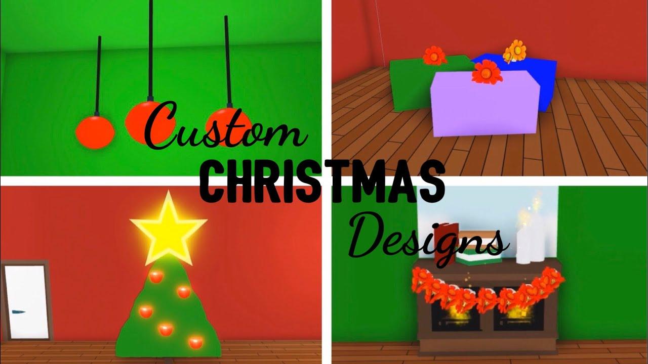 5 Custom Christmas Design Ideas Building Hacks Roblox Adopt Me Christmas Tree Gifts Ornaments Youtube