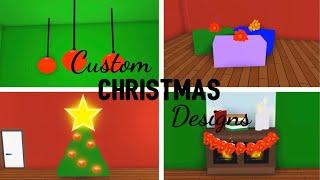 5 Custom CHRISTMAS Design Ideas & Building Hacks (Roblox Adopt me) Christmas tree, Gifts, Ornaments