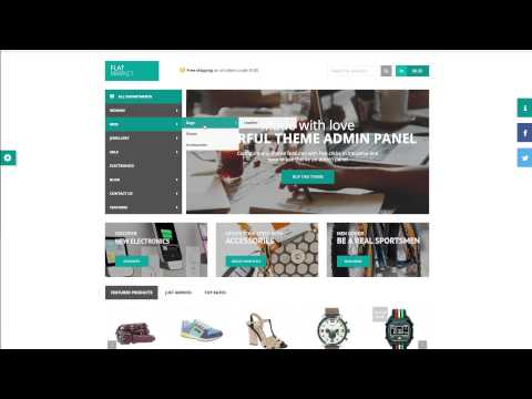 Mega Main Menu WordPress plugin demonstration in FlatMarket WordPress Multi-Purpose theme