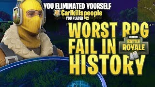 THE WORST ROCKET LAUNCHER FAIL IN FORTNITE HISTORY?! (Why me)