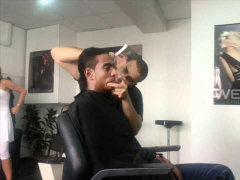 fashion coiffure avec Fabrice Abriel joueur de l'om