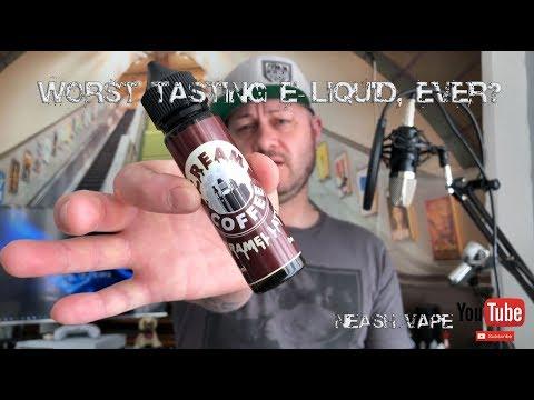 Cream Coffee, Caramel Latte - E-Liquid Review (Worst tasting Juice Ever?)