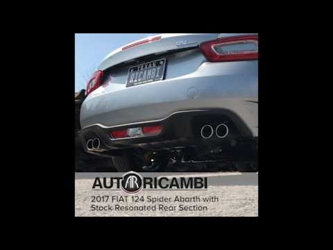 Auto Ricambi non resonated FIAT 124 Spider Abarth exhaust compare