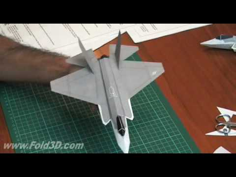Papercraft 3D Paper Plane F35-C Lightning II CV Variant JSF - Construction Video