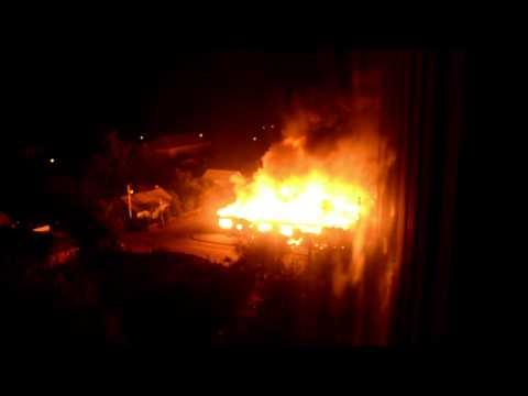 Казатин. Пожар с 22.08 на 23.08 2013г. Торговый комплекс ул.К.Цеткин