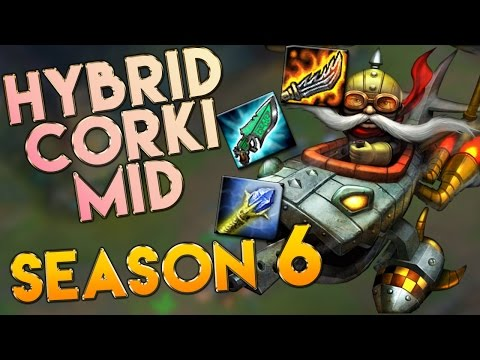 AP/Hybrid Corki Mid Season 6 Gameplay - League of Legends LoL Corki S6