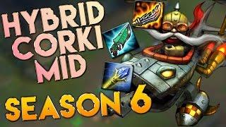 AP/Hybrid Corki Mid Season 6 Gameplay - League of Legends LoL Corki S6
